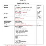 Booklist 2nd Class 2020