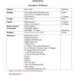 Booklist 4th Class 2020